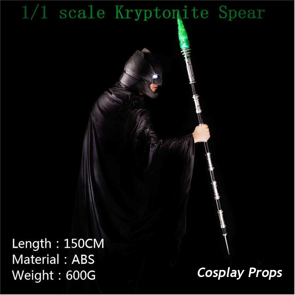 Batman VS Superman Kryptonite Spear Model Cosplay Props Led Light Adult Kids Toy