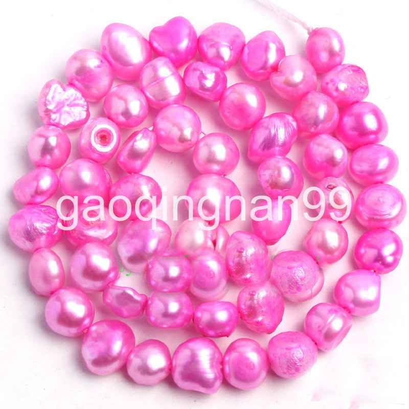 """5-7mm Gray Natural Freshwater Pearl Freeform Shape Gems Loose Beads Strand 14/"""""""