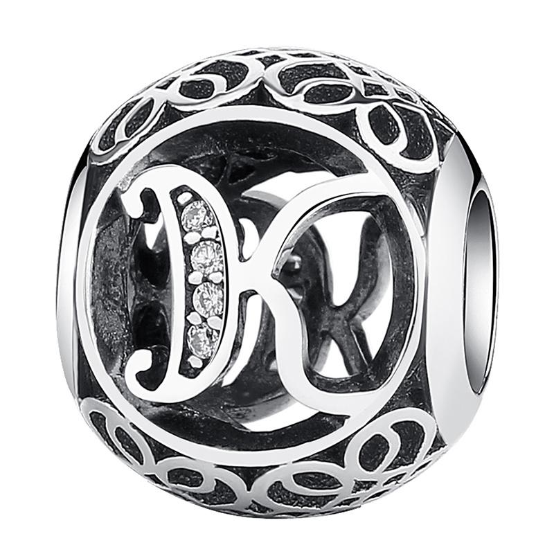 26-letters-925-Silver-CZ-European-Charm-Beads-Fit-Bracelet-Chain-DIY