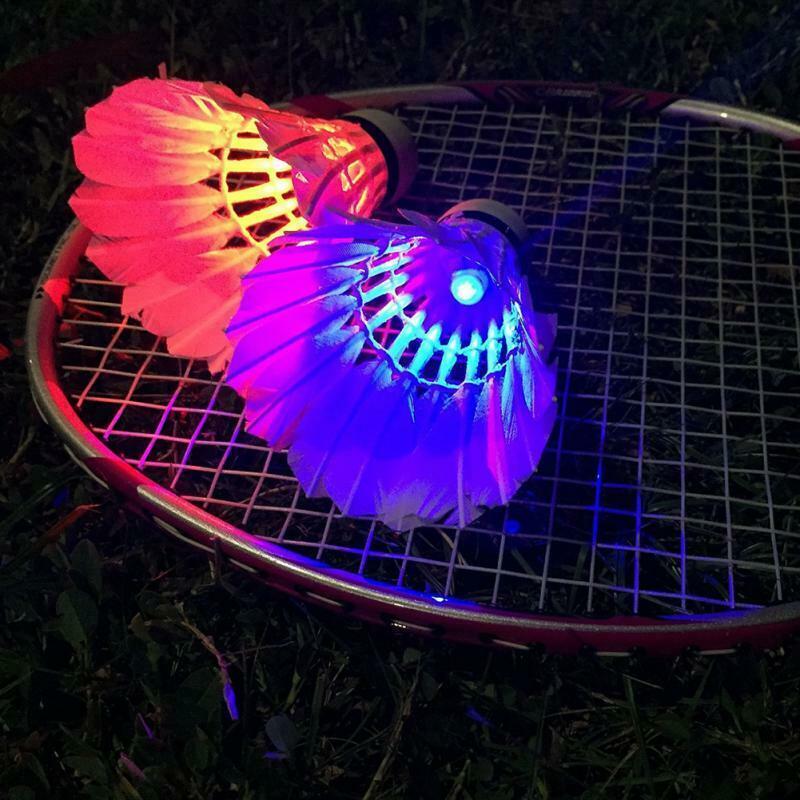 4pcs LED Flash Badminton Colorful Lightweight Sports Luminous Shuttlecock RT738