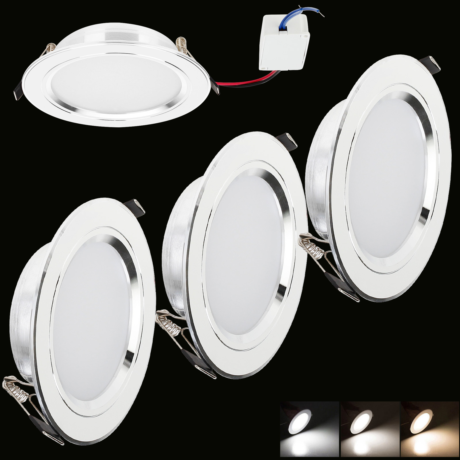 Dimmable Epistar Recessed LED Ceiling Light 12W 9W 7W 5W 3W Down Lights Lamp RK