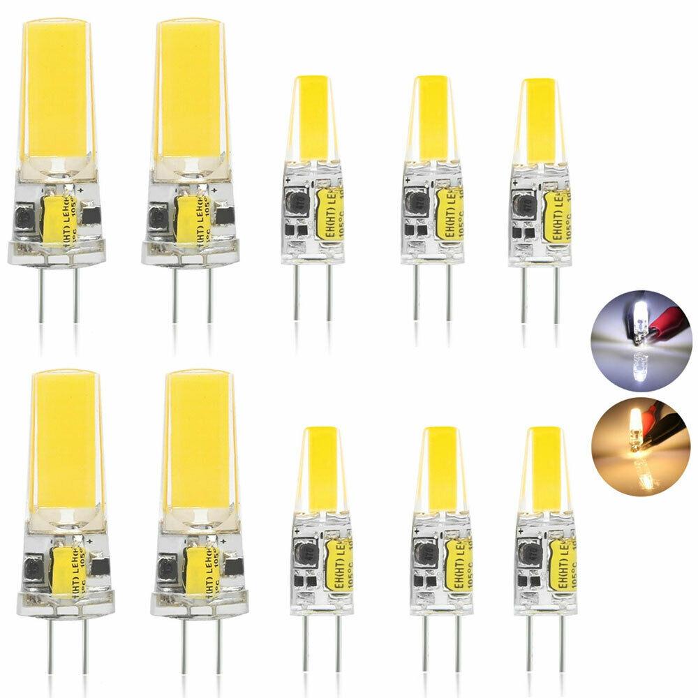 12V G4 COB 3W 6W LED Light Bulb Capsule Dimmable Lamp Replace Halogen Bulb 2PCS