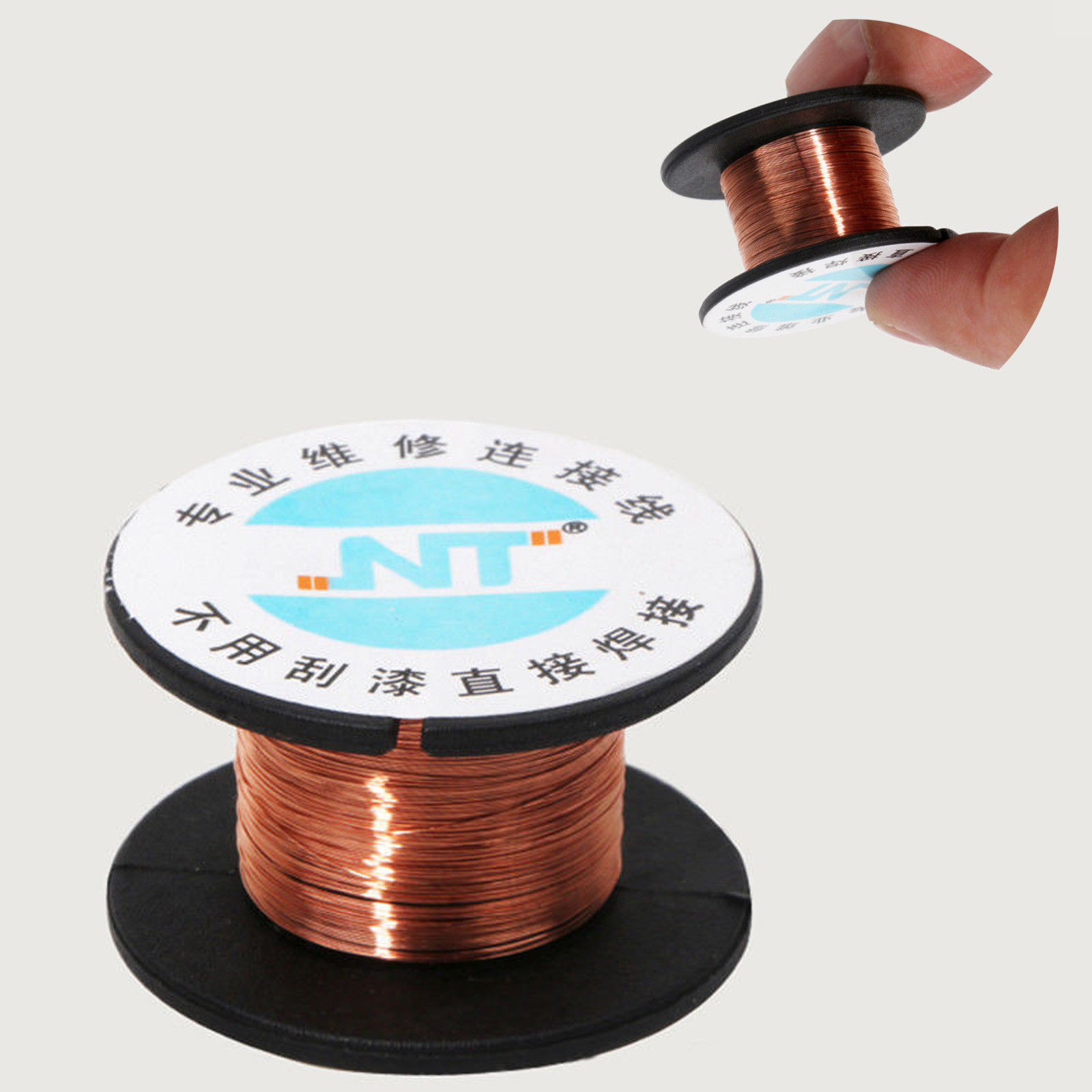 0.1MM Copper Soldering Solder PPA Enamelled Repair Reel Wire 15m FAST SHIPPING