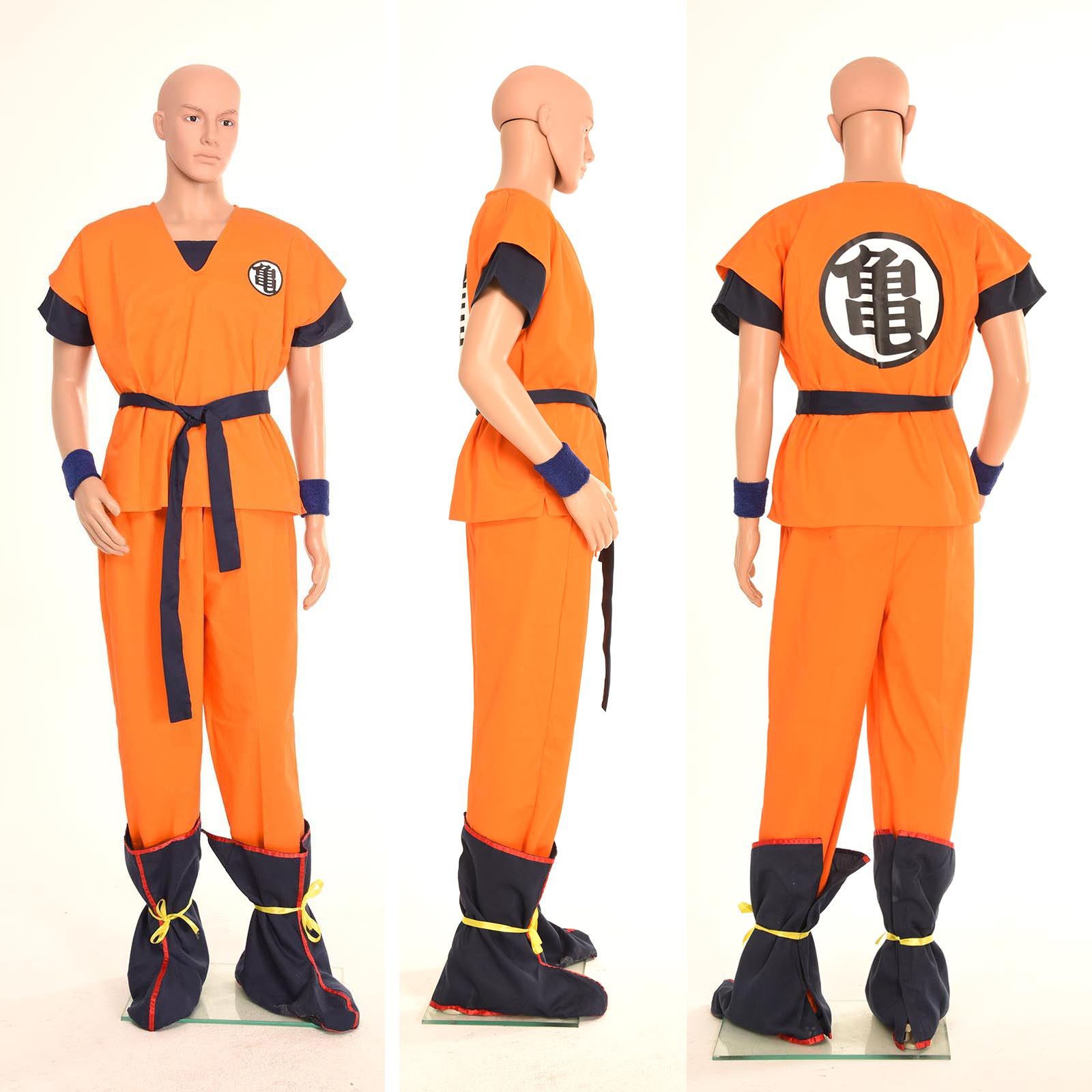 Dragonball Z Son Goku Kurrin Yamcha Cosplay Party Costume Full Set Free Shipping