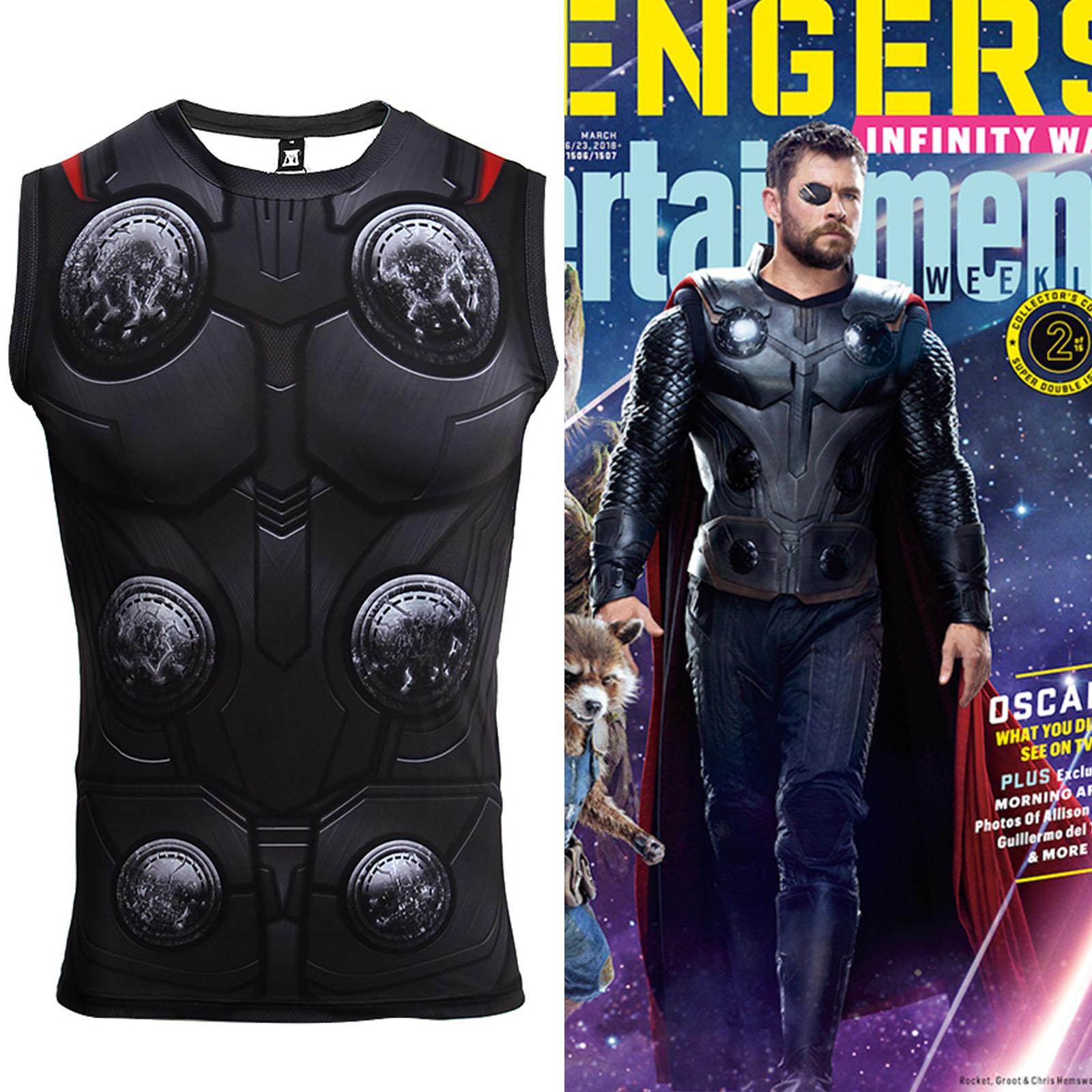 Avengers Infinity War Thor Vest sport Fitness Costume ...