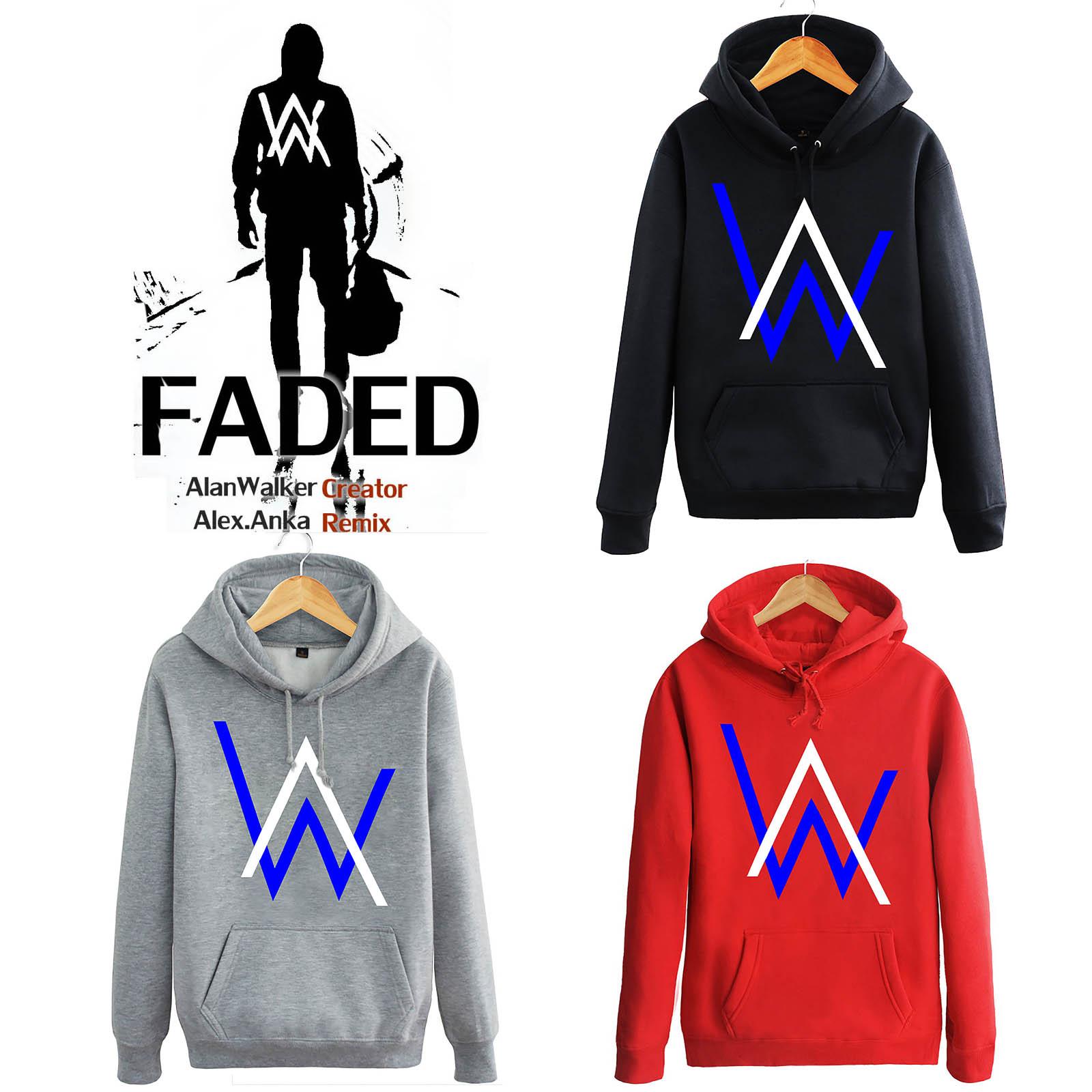 Alan Walker Music Dj Sweater Faded Hoodie Hoody Jacket Fleece Coat Jaket Zipper Type B S 3xl