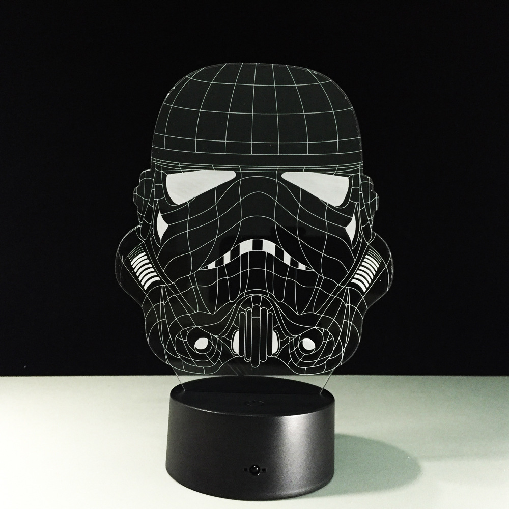 star wars stormtrooper led dekoration lampe weihnachten atmosph re lichtbunt neu ebay. Black Bedroom Furniture Sets. Home Design Ideas