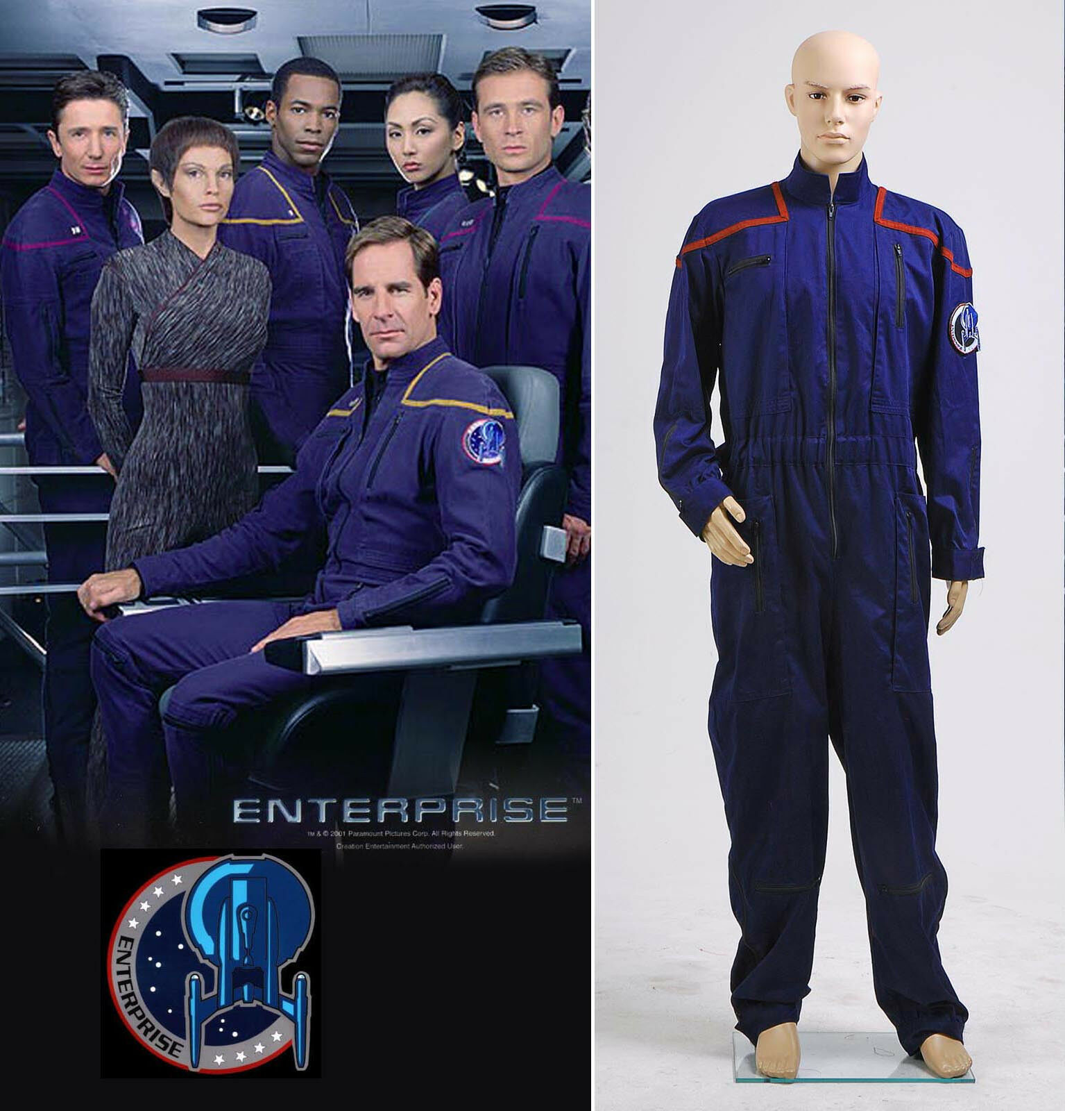 Star Trek Enterprise Duty Jumpsuit Uniform Costume Red  NN.3195