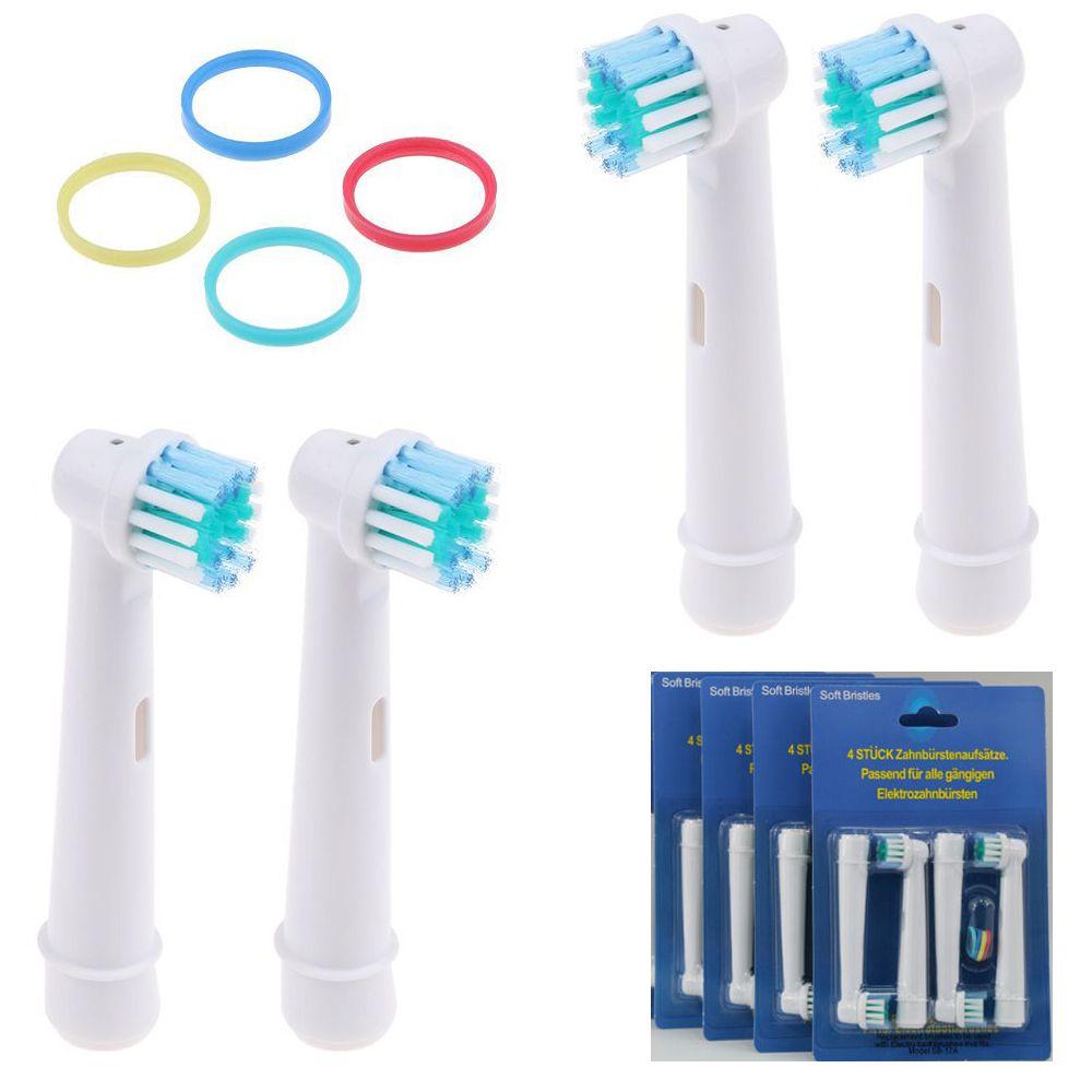4 x Testa di ricambio per Braun Oral B Vitality Precision Clean con Timer