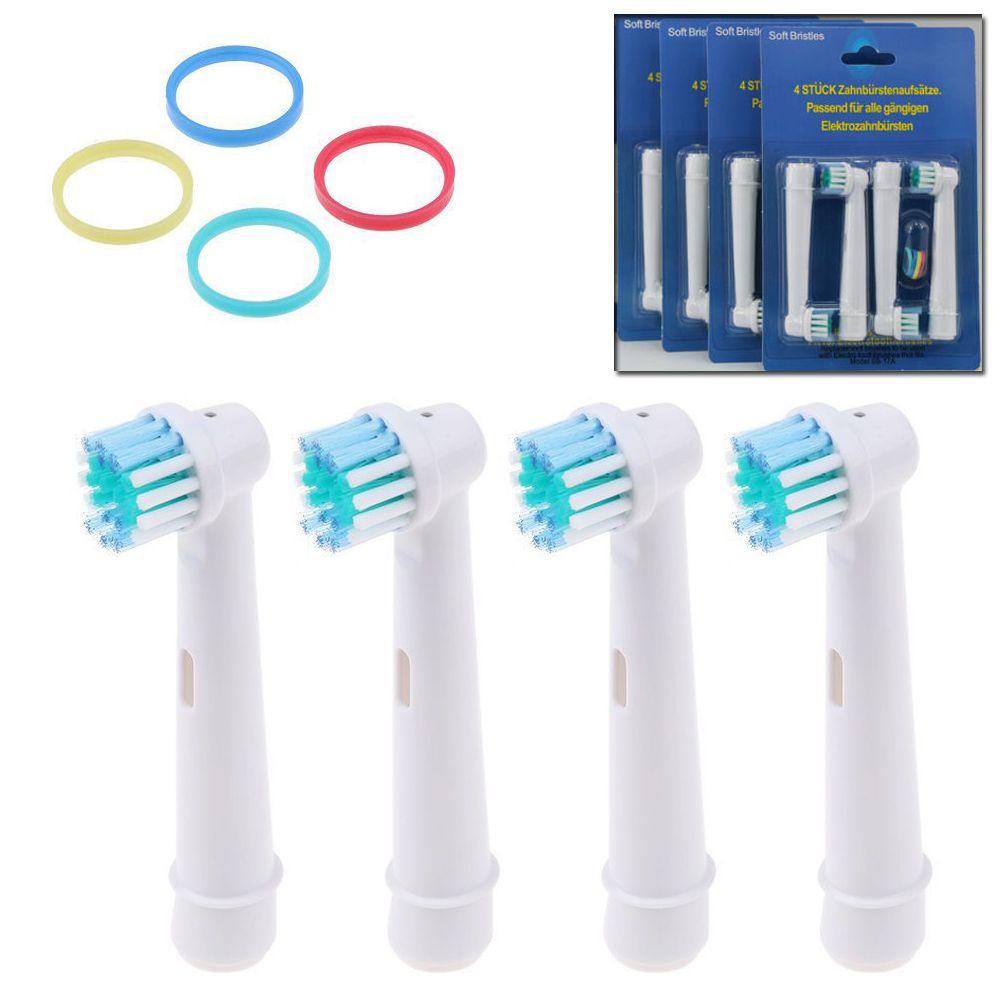 4 x spazzole elettrici per Braun Oral B SPAZZOLINO SPAZZOLE DI RICAMBIO NUOVO