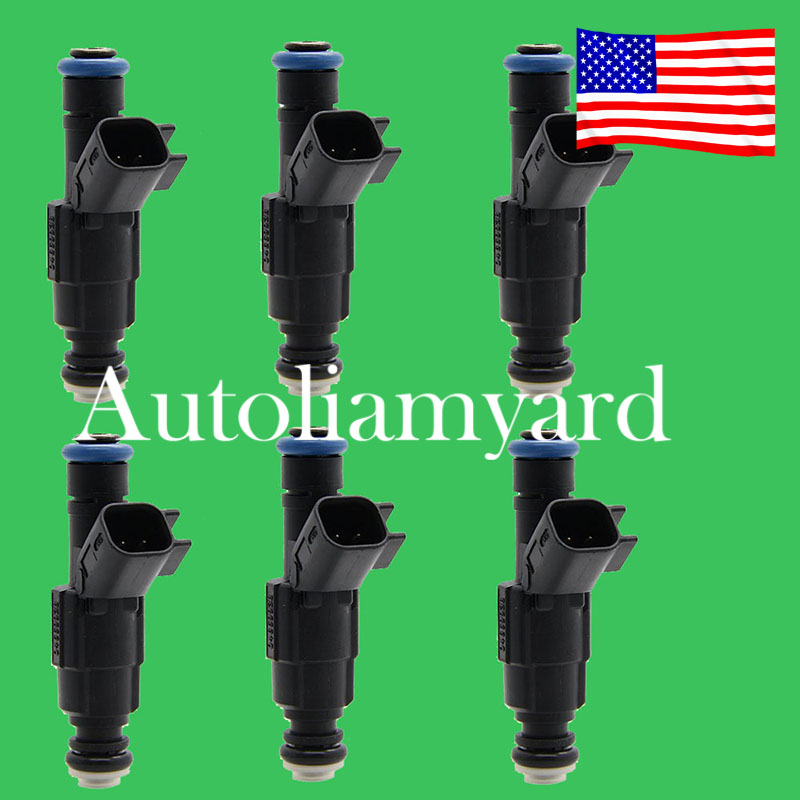 6x 4-Hole Upgrade Fuel Injectors For 99-04 4.0L Jeep Cherokee 0280155784