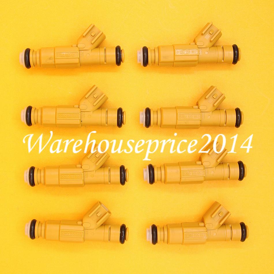 8x Fuel Injectors For Lincoln F-250 F-350 E-350 Super Duty 0280155857 822-11154