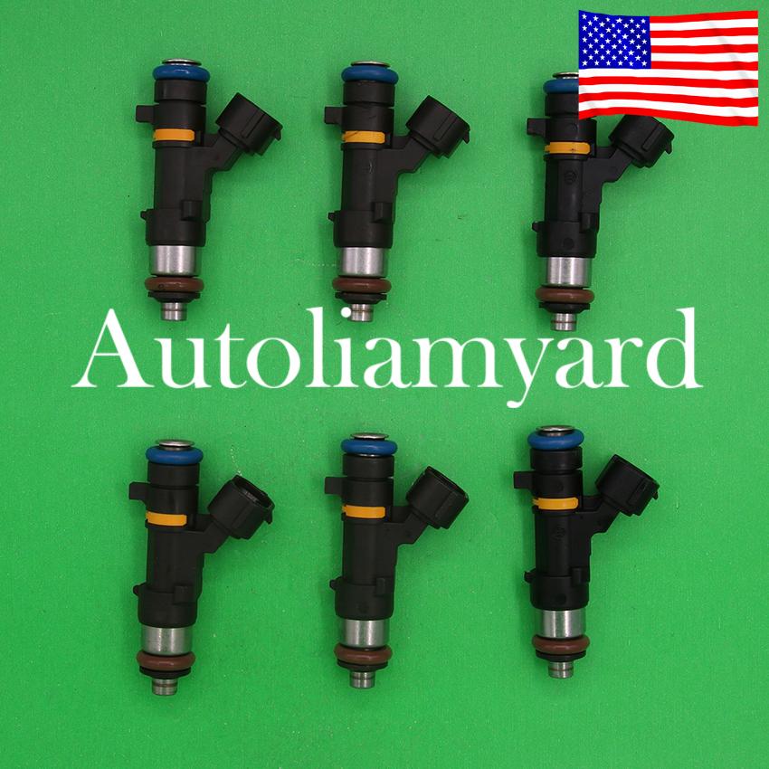 6 x OEM Fuel Injectors For Nissan FX35 M35 G35 V6 3.5L 0280158042 16600-CD700 US