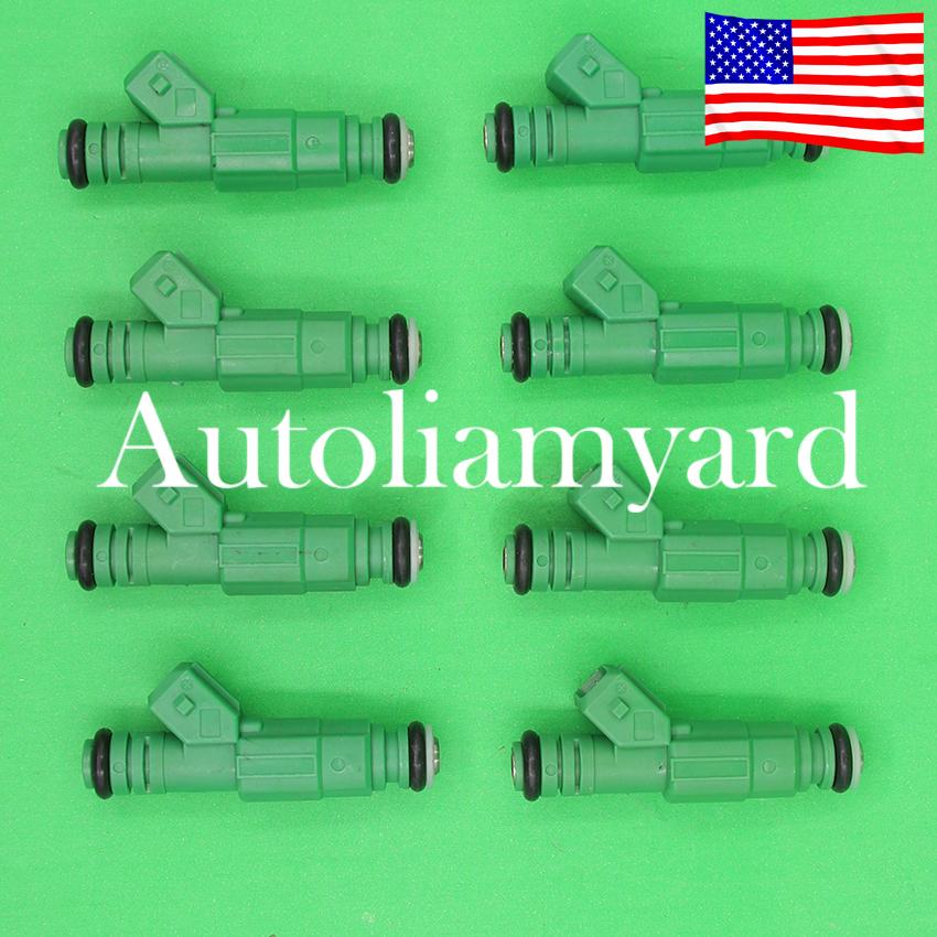 42lb Green Fuel Injectors fits GM Ford TBI LT1 LS1 LS6 V8 440cc EV1 8PCS