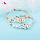 ee9bfab1db0 Details about Design Simulated Pearl Flower Bracelet Bangle Women Silver  /Rose Gold Color
