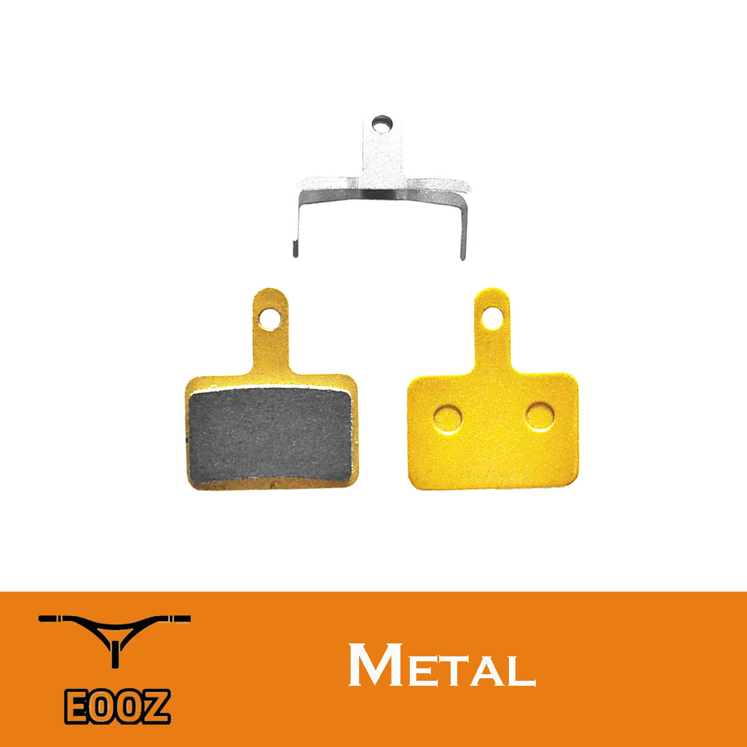 2 Pairs Metal METALLIC DISC BRAKE PADS for SHIMANO B01S Deore M515,M525