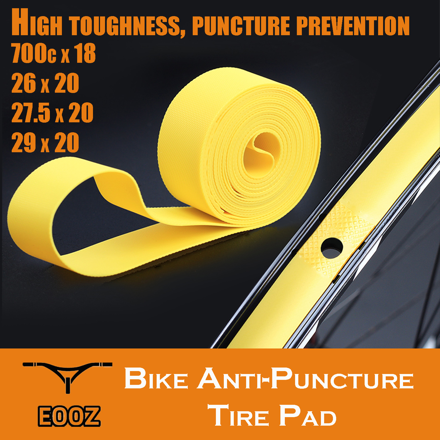 2 Pcs Bike Cycling Bicycle Tire Liner Protection Tape Anti Puncture Proof Pad