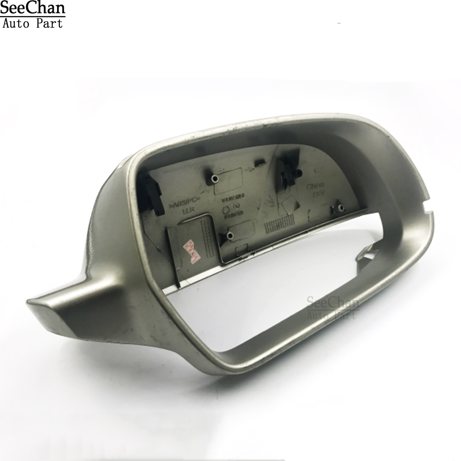 Car Side Mirror Cap Cover Housing For Audi A4 A5 S4 S5 S-Line L+R Chrome Silver