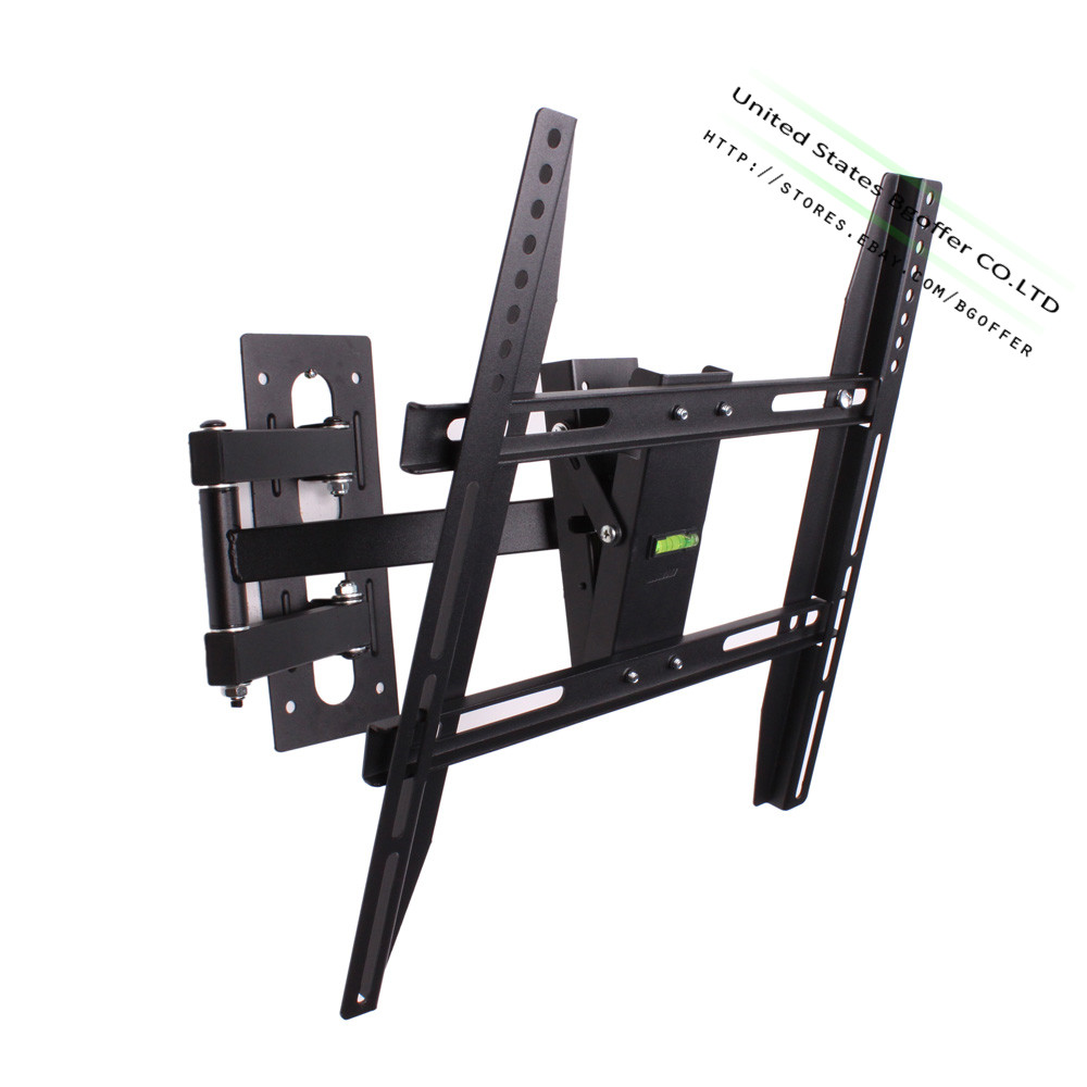 articulating swivel corner arm tilt led tv wall mount 1 2 tier dvd stand 20 70 ebay. Black Bedroom Furniture Sets. Home Design Ideas