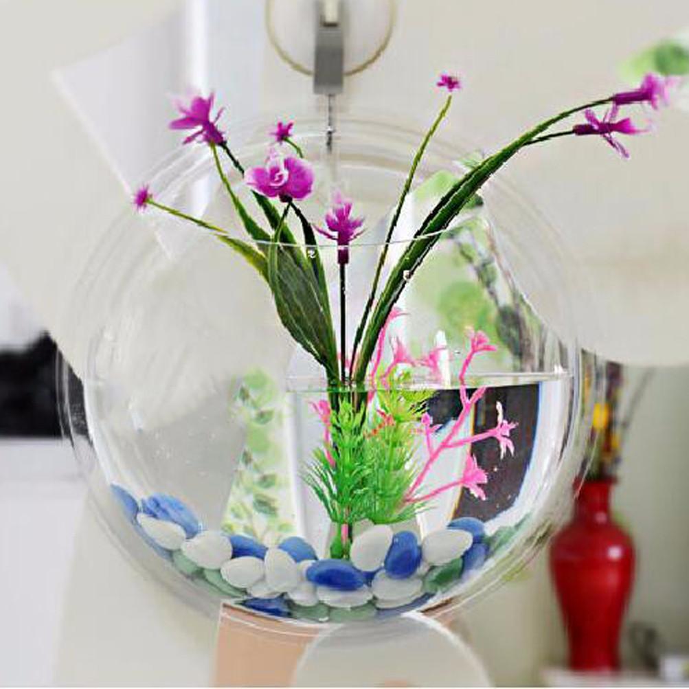 Wall aquarium fish betta bowl hanging bubble mount tank home wall aquarium fish betta bowl hanging bubble mount tank home decoration acrylic reviewsmspy