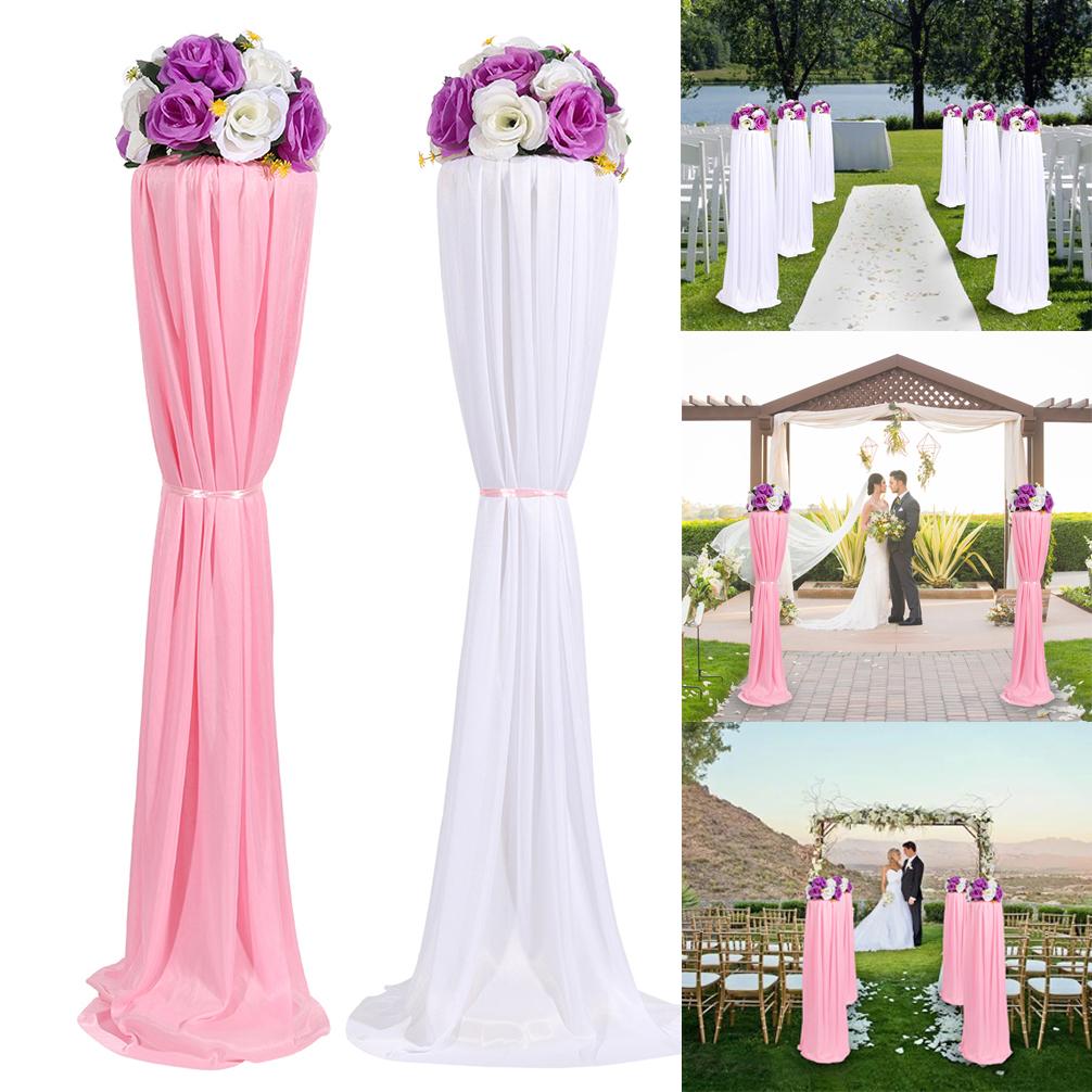 8PC Wedding Road Lead Column Pillar Artificial Flower