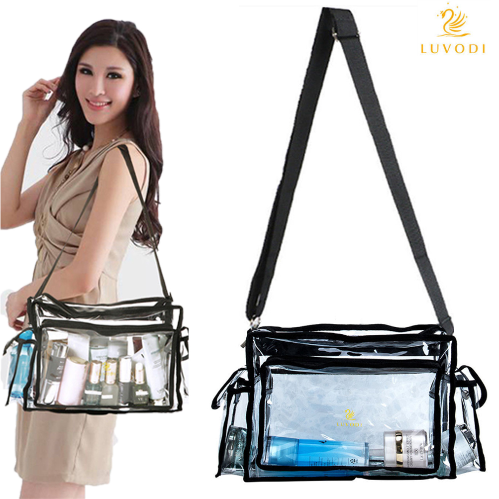Details about Summer Plastic PVC Transparent Bag Clear Handbag Tote  Shoulder Bag Crossbody Bag 5da6c1f70795e