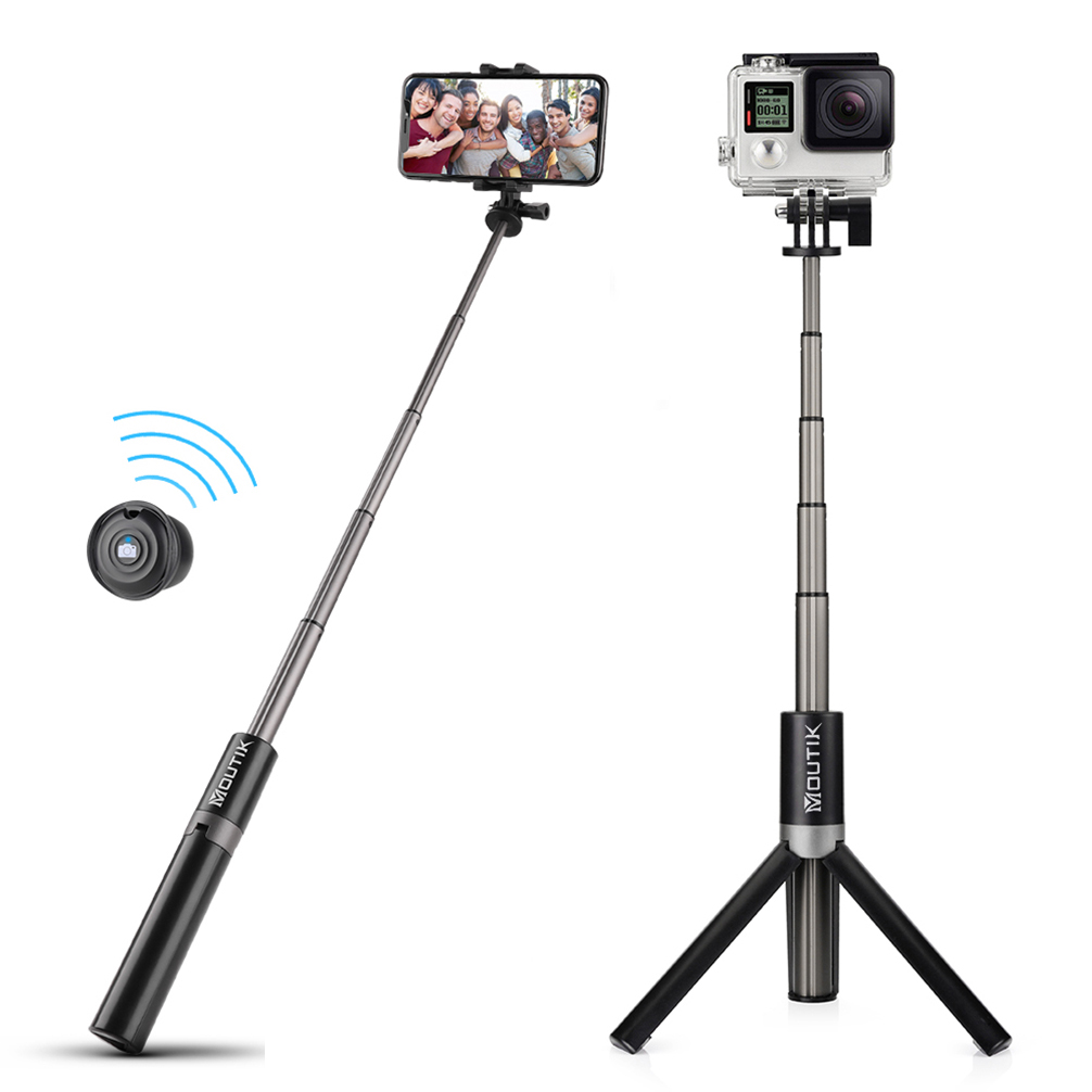 Details about 3 in 1 Bluetooth Selfie Stick Tripod Monopod Remote Control  By iOS Android Gopro