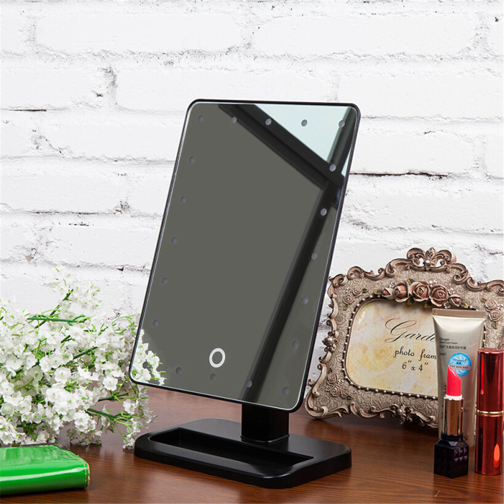 vanity makeup case cosmetic train box lighted hollywood makeup mirror dimmer ebay. Black Bedroom Furniture Sets. Home Design Ideas