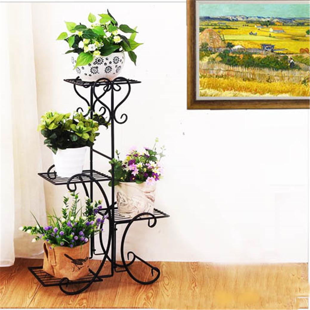 Flower Pot Plant Stand Rack Wood Shelf Garden Indoor Outdoor Patio 2//3//4