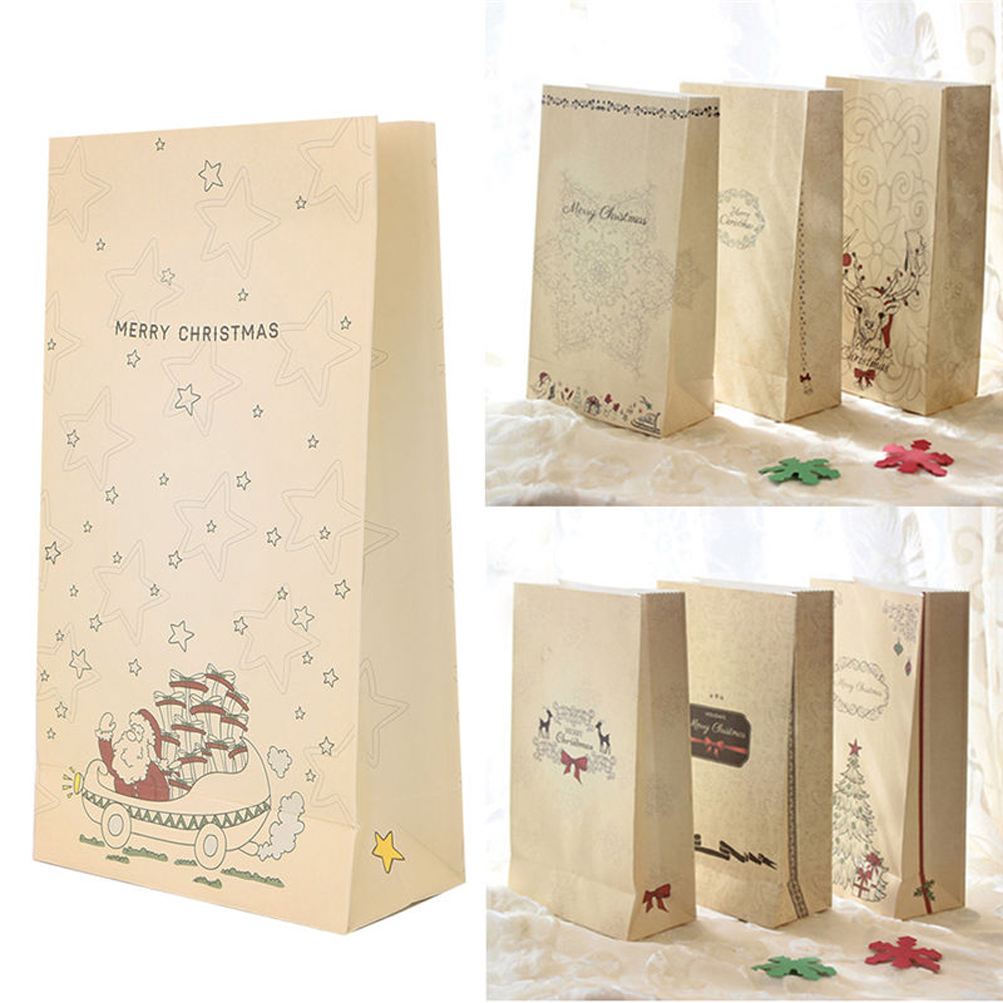 32 Kraft Paper Bag Gift Cookie Candy Christmas Holiday Wedding Favor ...