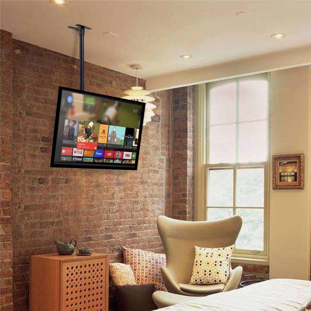 UNHO TV Ceiling Mount Bracket Roof Hang Holder For 26 32 39 40 42 45 ...