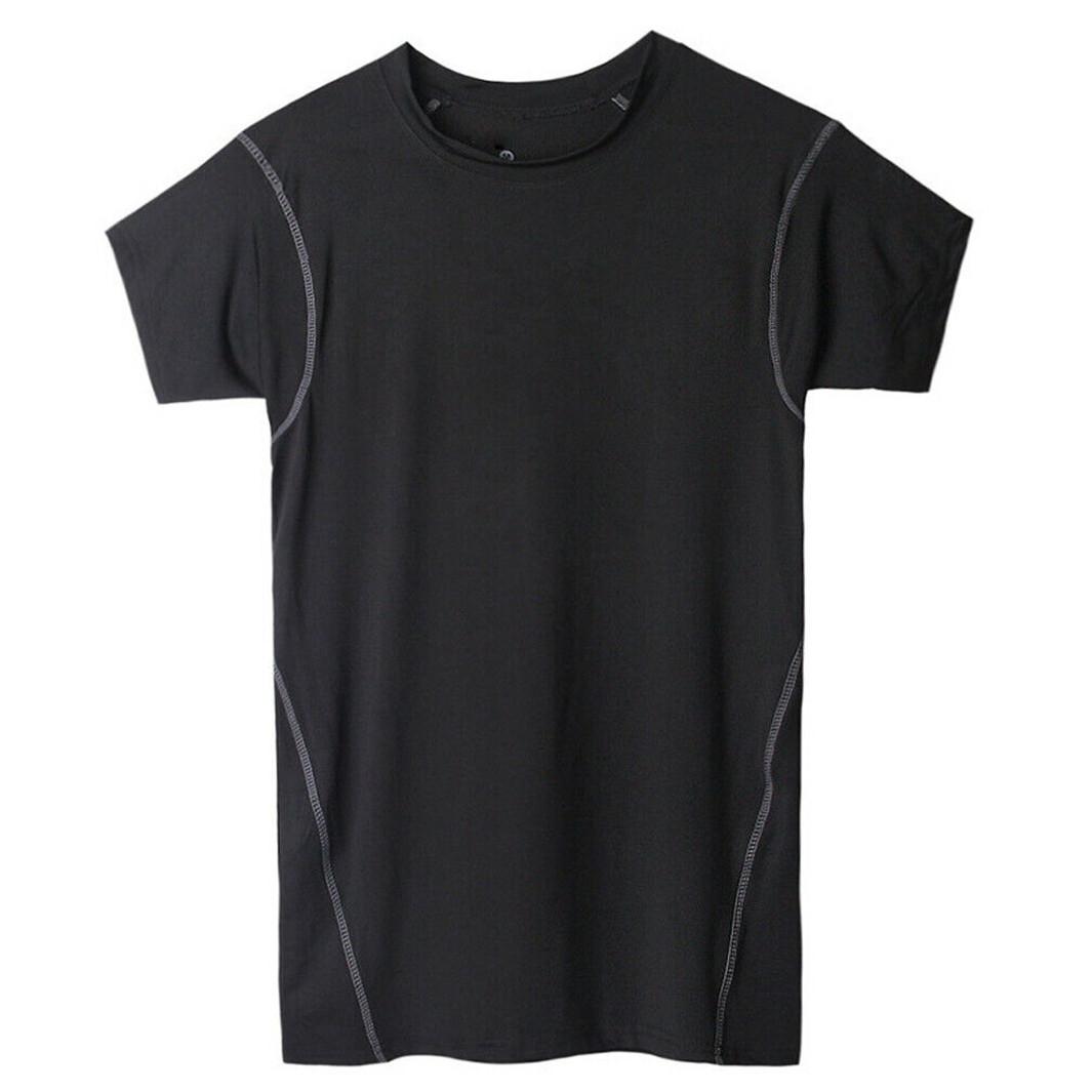 Men Body Compression Under Skin Base Layer Sleeveless Vest Tank Gym Shirt