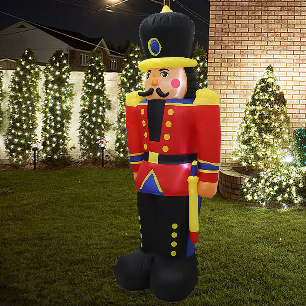 6ft airblown inflatable christmas nutcracker toy soldier xmas outdoor yard decor