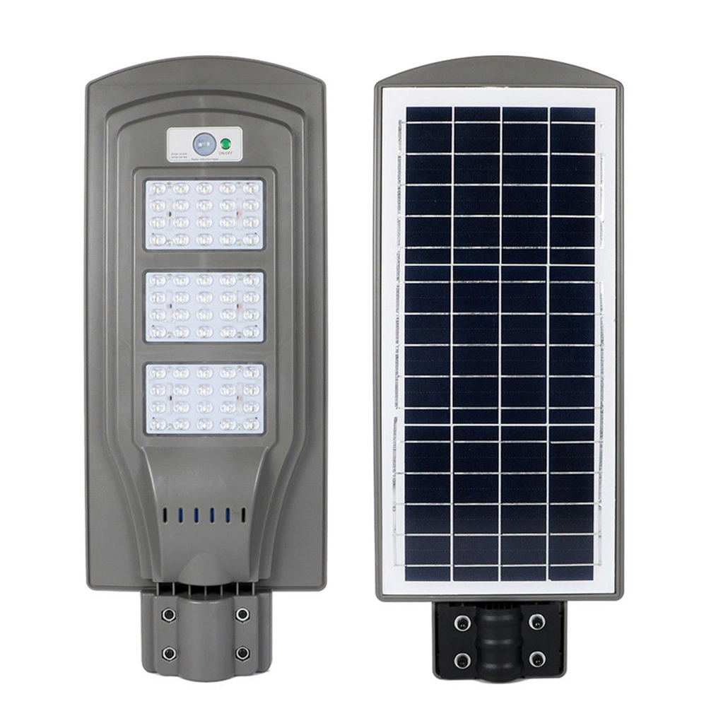 Details About Outdoor Commercial Led Solar Street Light Ip65 Dusk To Dawn Sensor Lamp 1 000lm