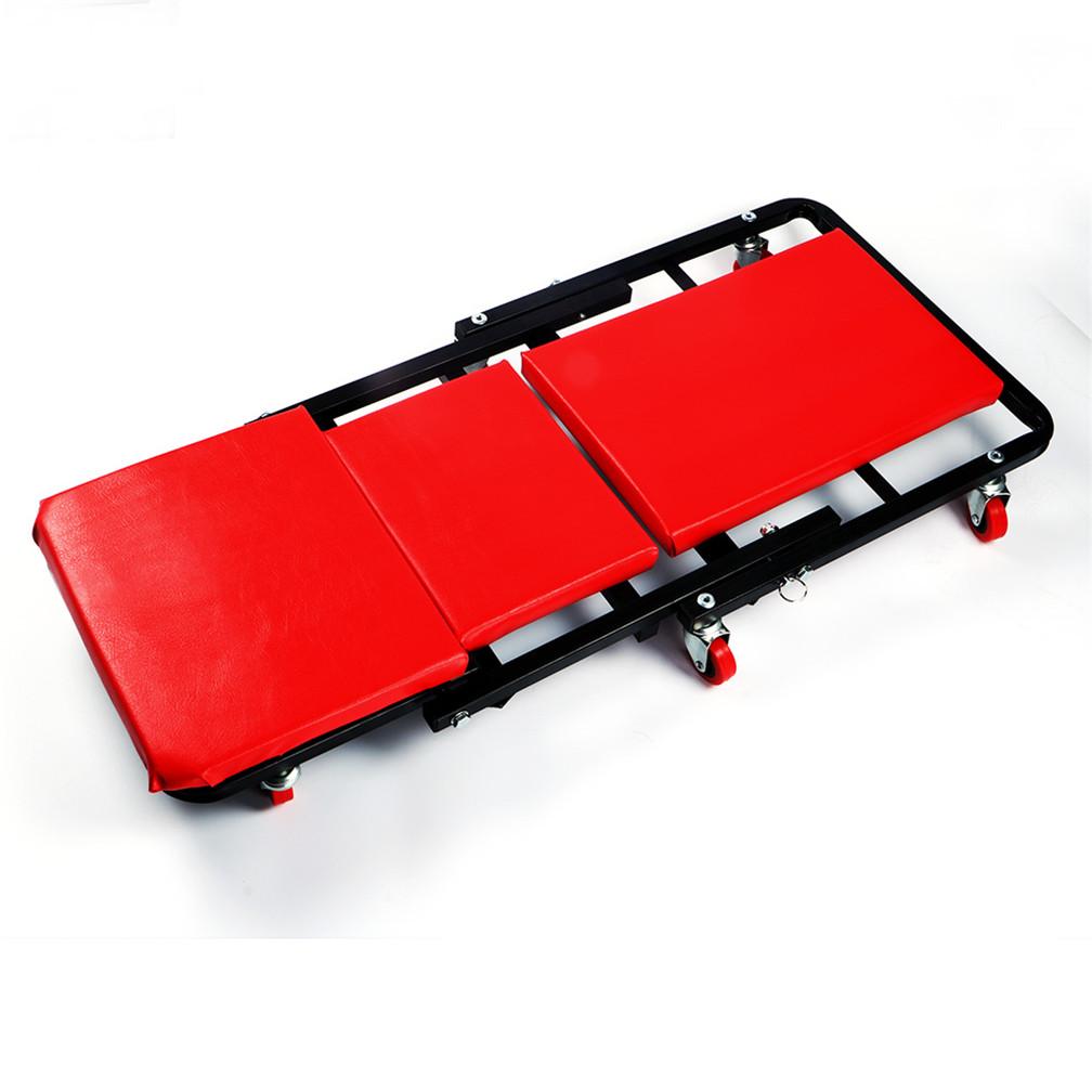 Folding Mechanics Padded Creeper Trolley Seat Car Van