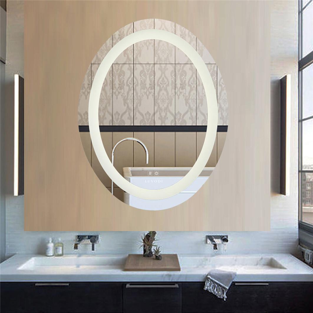 Details about LUVODI LED Bathroom Wall Mount Mirror Illuminated Lighted  Vanity Mirror Hardwire