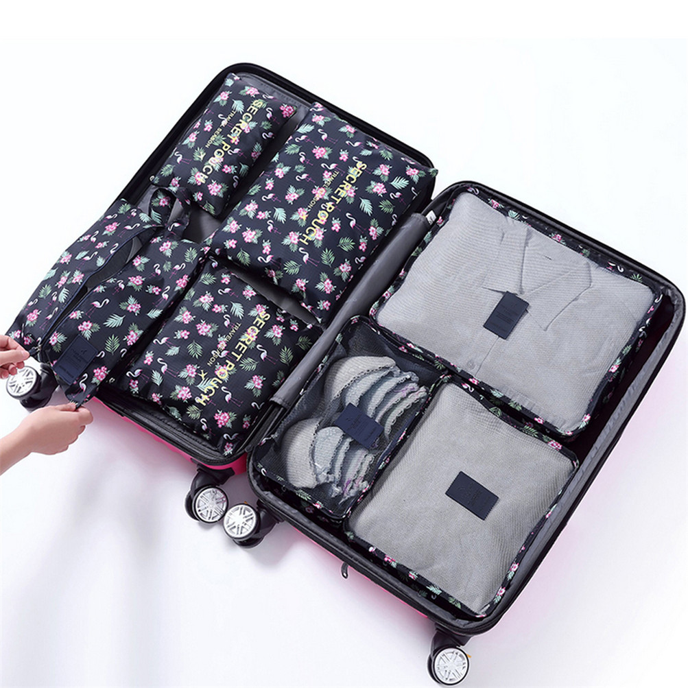 5a4bea64d14c Details about 7Pcs/Set Packing Cubes Travel Zipper Clothes Storage Bag  Luggage Neat Packer USA
