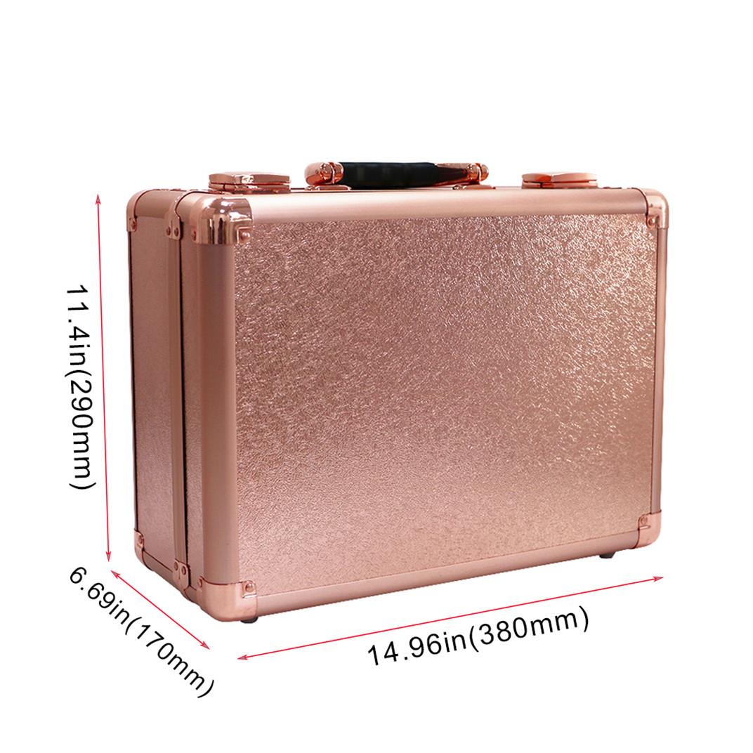 Heat Resistant Portable Pro Train Makeup Case Hollywood