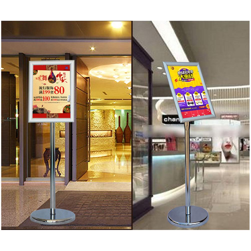 A34 Adjustable Pedestal Sign Holder Floor Poster Stand Aluminum