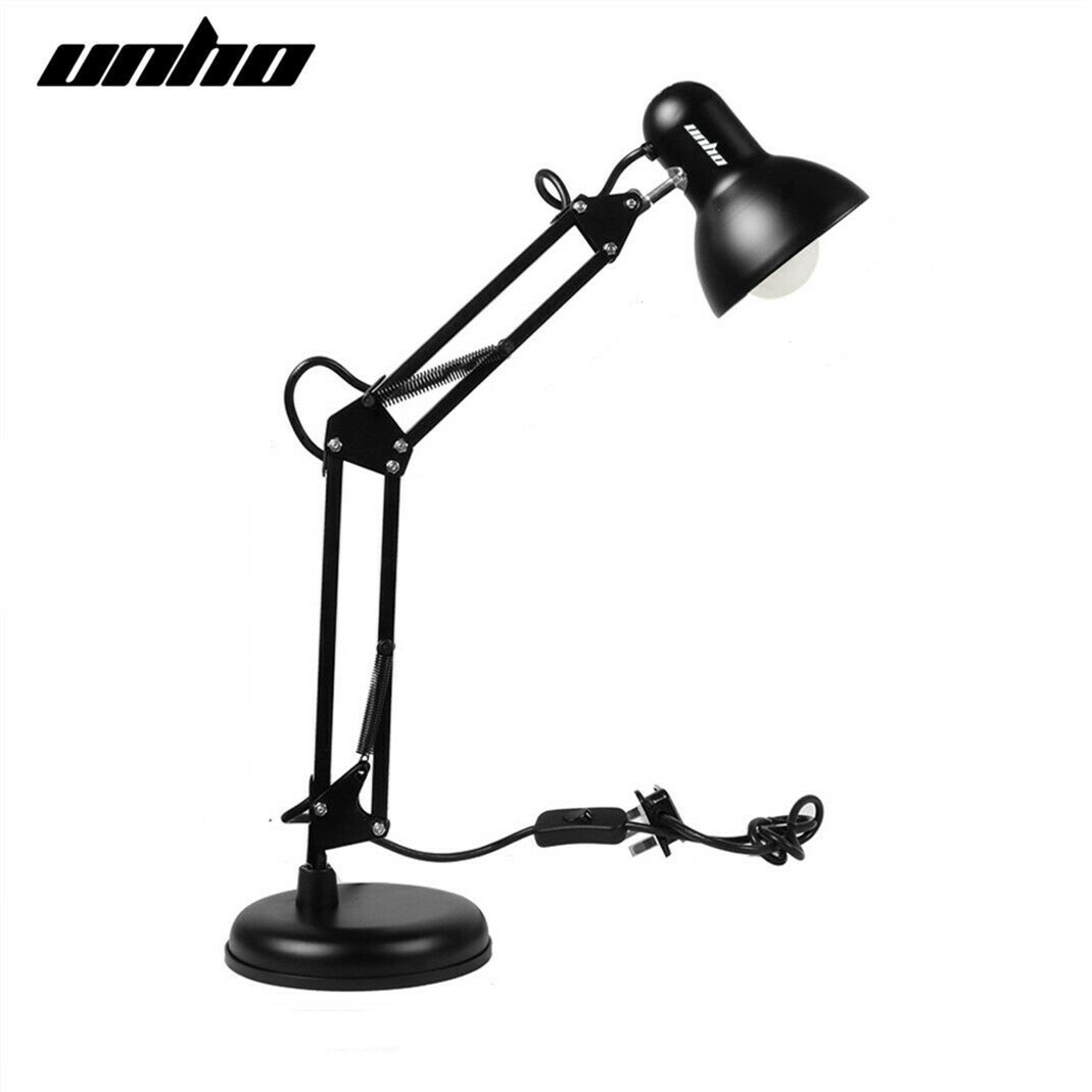 Details About Metal Swing Arm Desk Lamp Interchangeable Base Clamp Table  Lamp Multi Joint Work