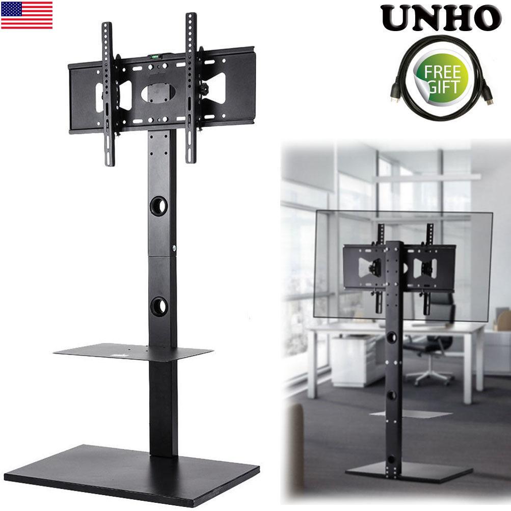 home office swivel floor tv stand base with mount universal fr lg hisense 32 65 ebay. Black Bedroom Furniture Sets. Home Design Ideas