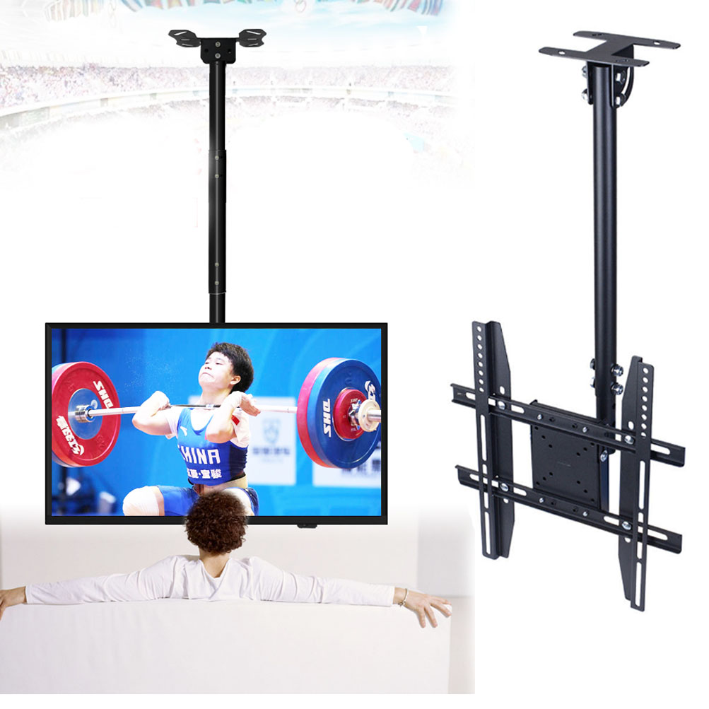 Ceiling Mount Tv Wall Bracket Roof Rack Pole Retractable