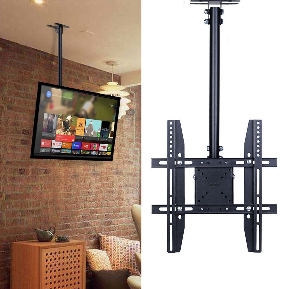 Adjustable Flip Down Pitched Roof Ceiling Tv Mount Up To 55 Lcd Led