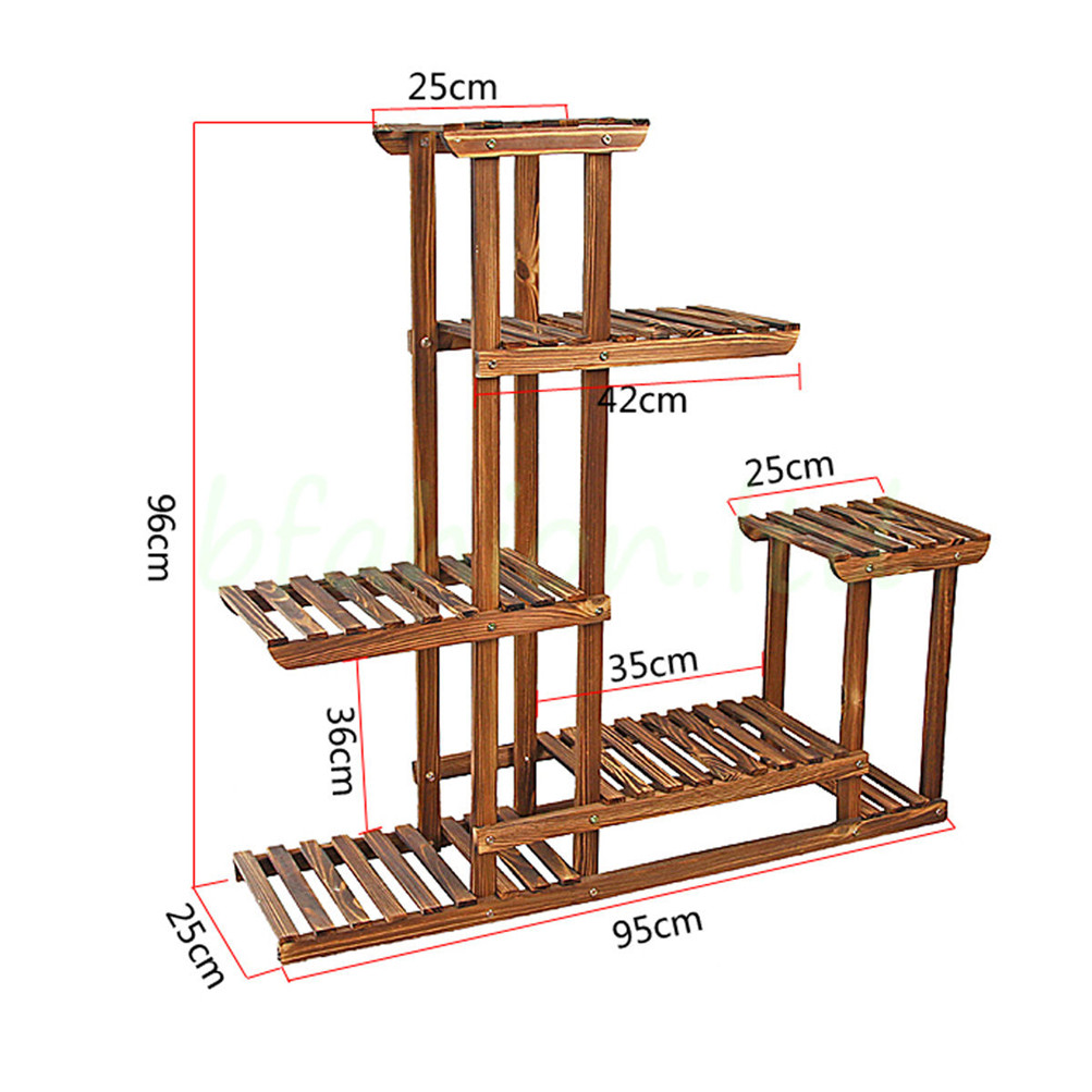 Exhibition Stand Storage : Wooden plant flower herb display stand shelf storage rack