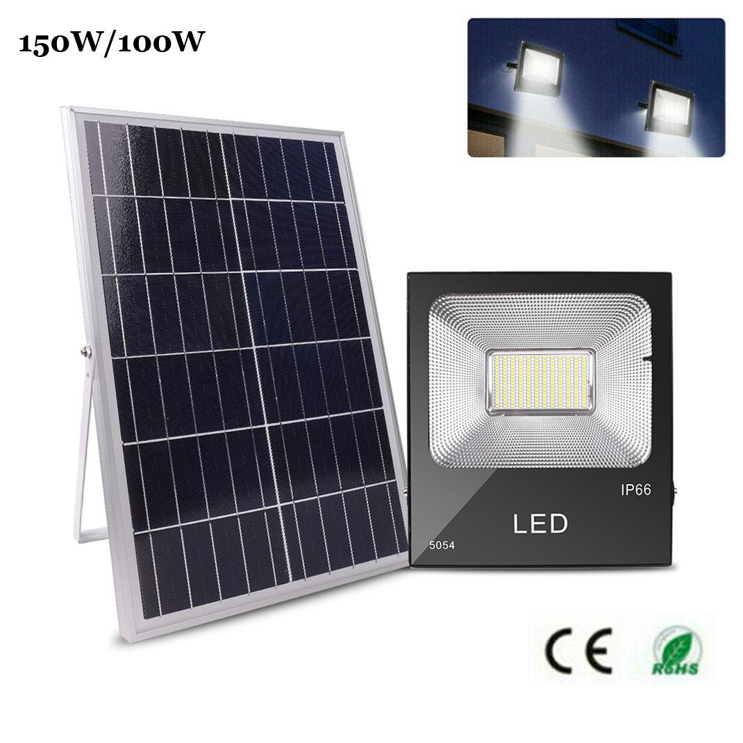 150w 192 Led Solar Powered Dusk To Dawn Flood Light Outdoor Ip66 Lighting Garden Ebay