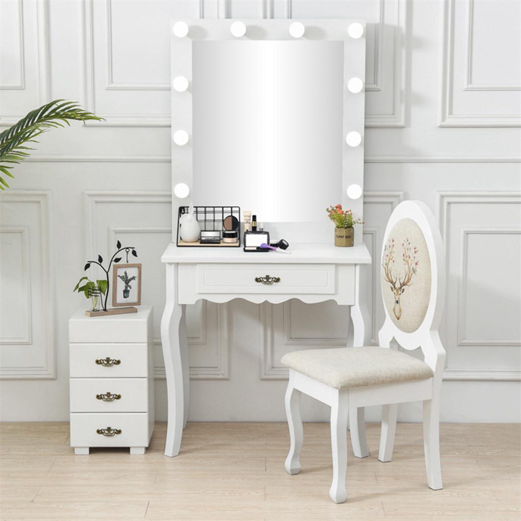 Hollywood Dressing Table Set LED Lighted Makeup Vanity ...