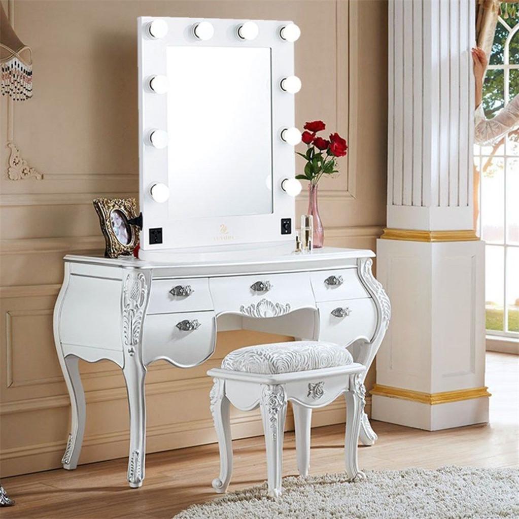 Tremendous Details About Large Led Bluetooth Professional Vanity Make Up Desk Mirror Light Up Fashion Usb Home Interior And Landscaping Mentranervesignezvosmurscom