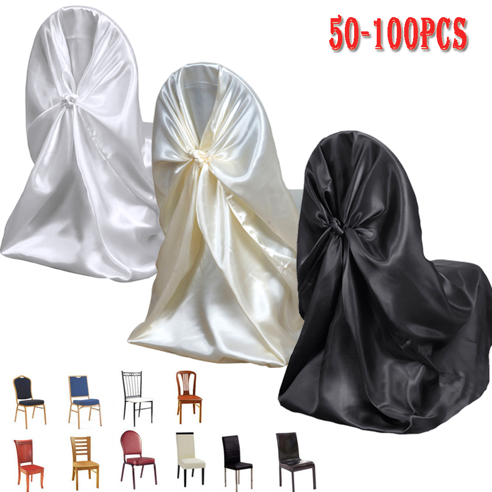 Pleasing Details About 50 100 Bulk Satin Fabric Universal Tie Back Self Chair Covers Wedding Party Deco Onthecornerstone Fun Painted Chair Ideas Images Onthecornerstoneorg