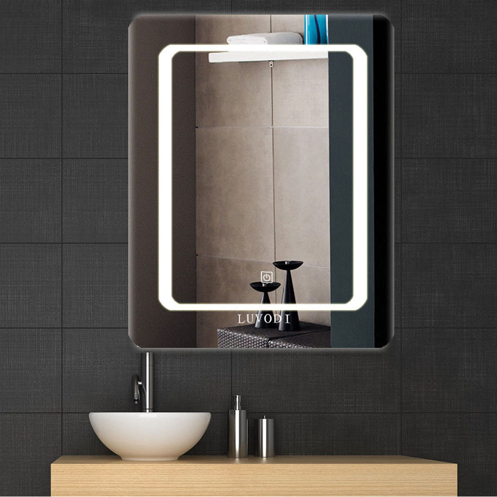 Vanity Wall Bathroom Bedroom Makeup Mirror LED Lighted Hang Plain ...