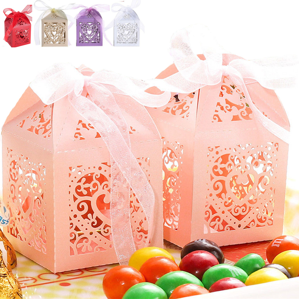 100PCS Baby Shower Wedding Party Favor Bag Paper Box Gift Treat ...